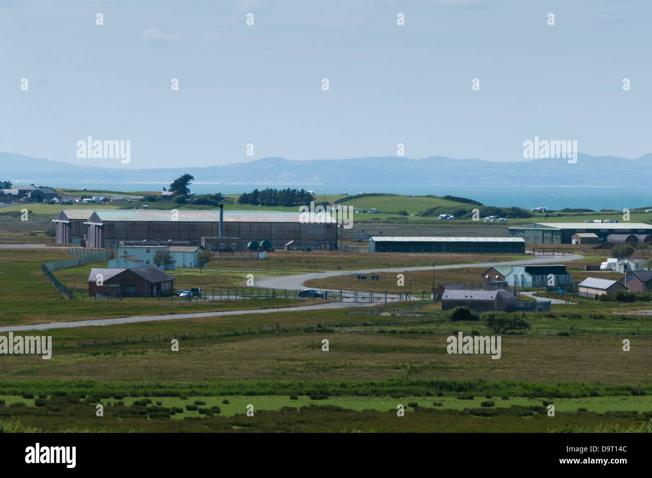 Llanbedr airfield has a selection of buildings available for industrial and aerospace use - Stock Image