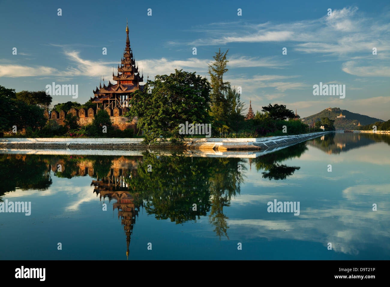 The old Royal City Wall, Mandalay, Burma (Myanmar) - Stock Image
