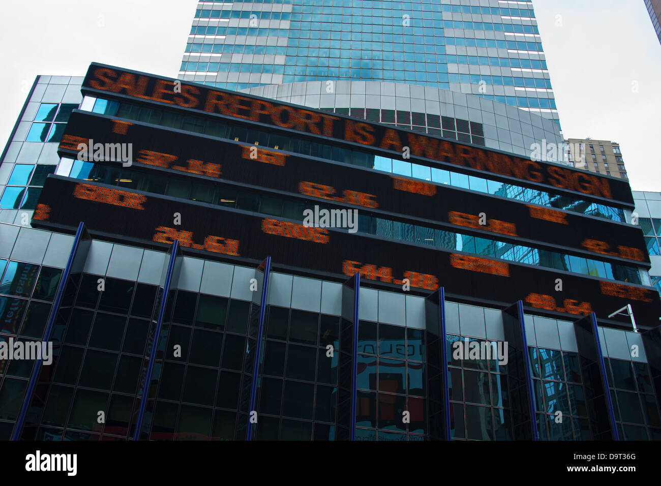 ELECTRONIC STOCK MARKET PRICE TICKER DISPLAY MANHATTAN NEW YORK CITY USA - Stock Image