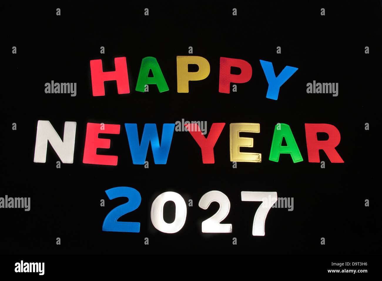 HAPPY NEW YEAR 2027Stock Photo