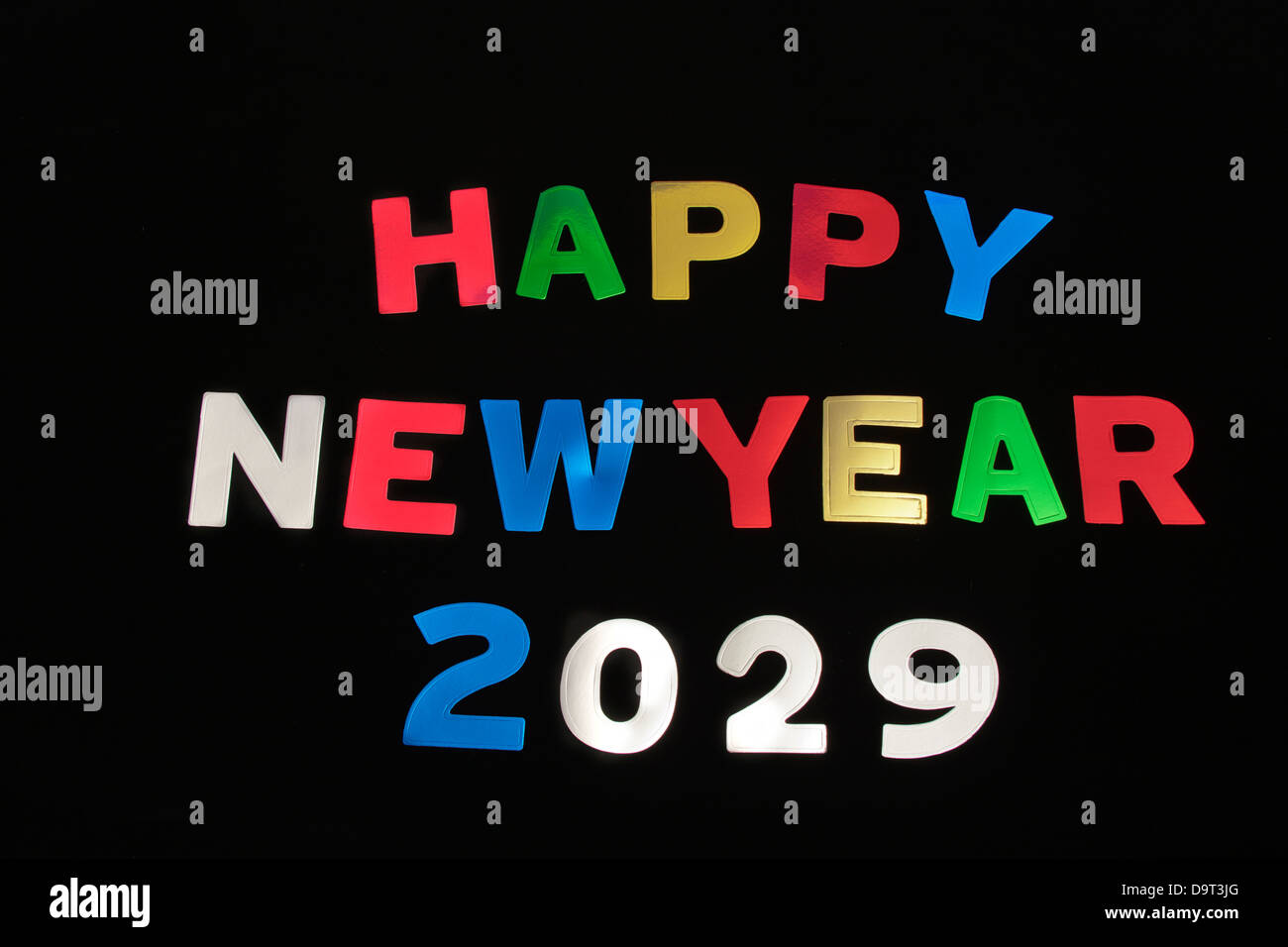 HAPPY NEW YEAR 2029Stock Photo