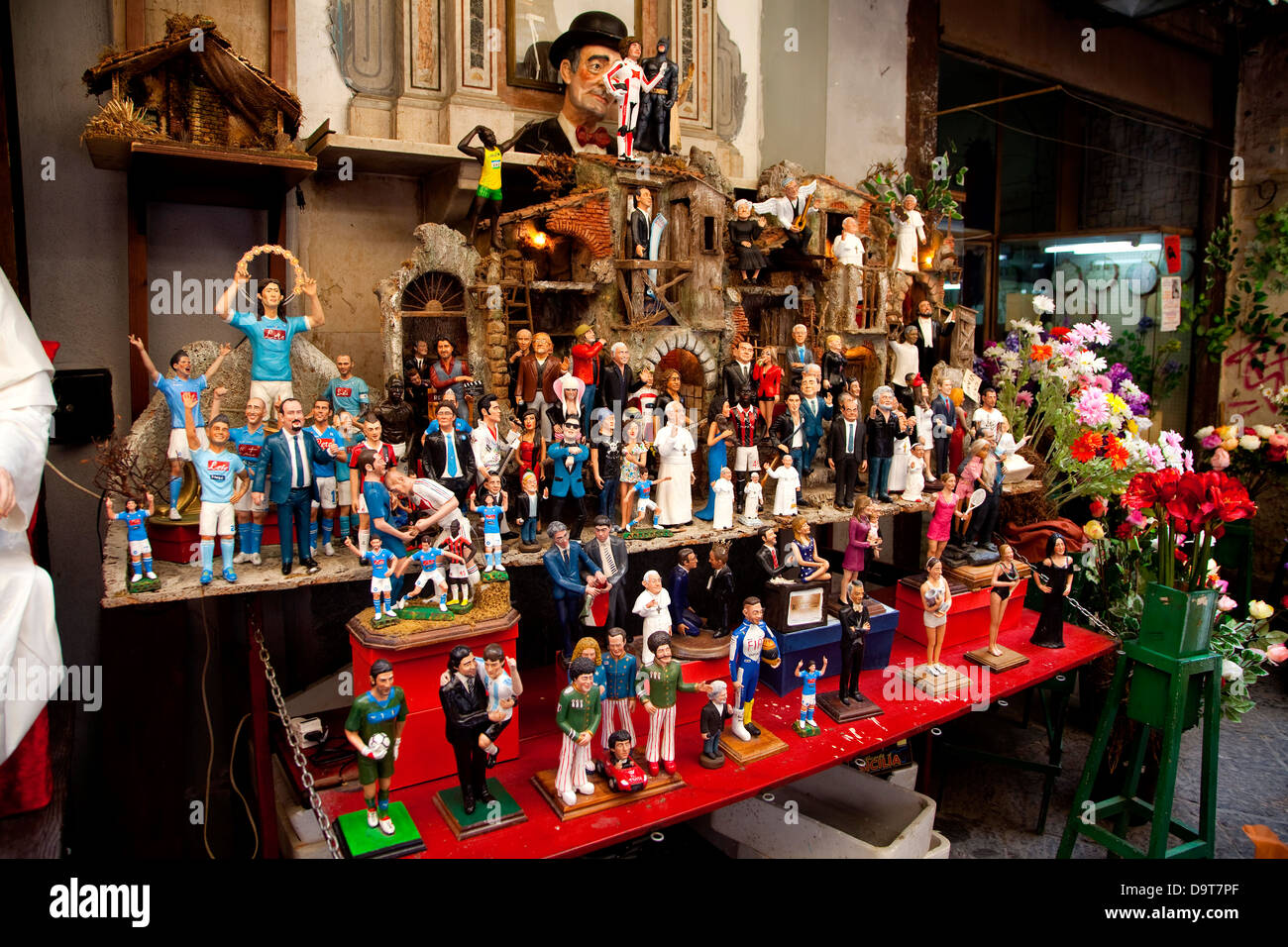 traditional shop with gifts presents souvenirs in spaccanapoli