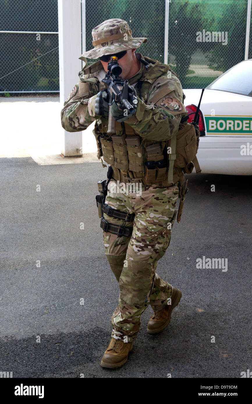018 Quick Reaction Force. Stock Photo