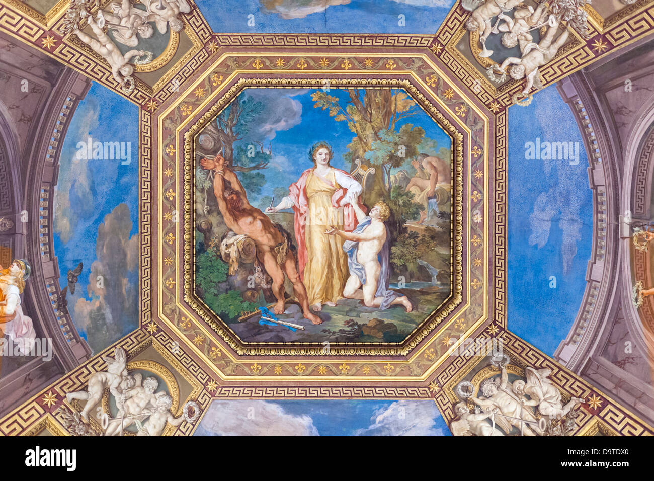 Tommaso Conca, Room of the Muses, fresco - Stock Image