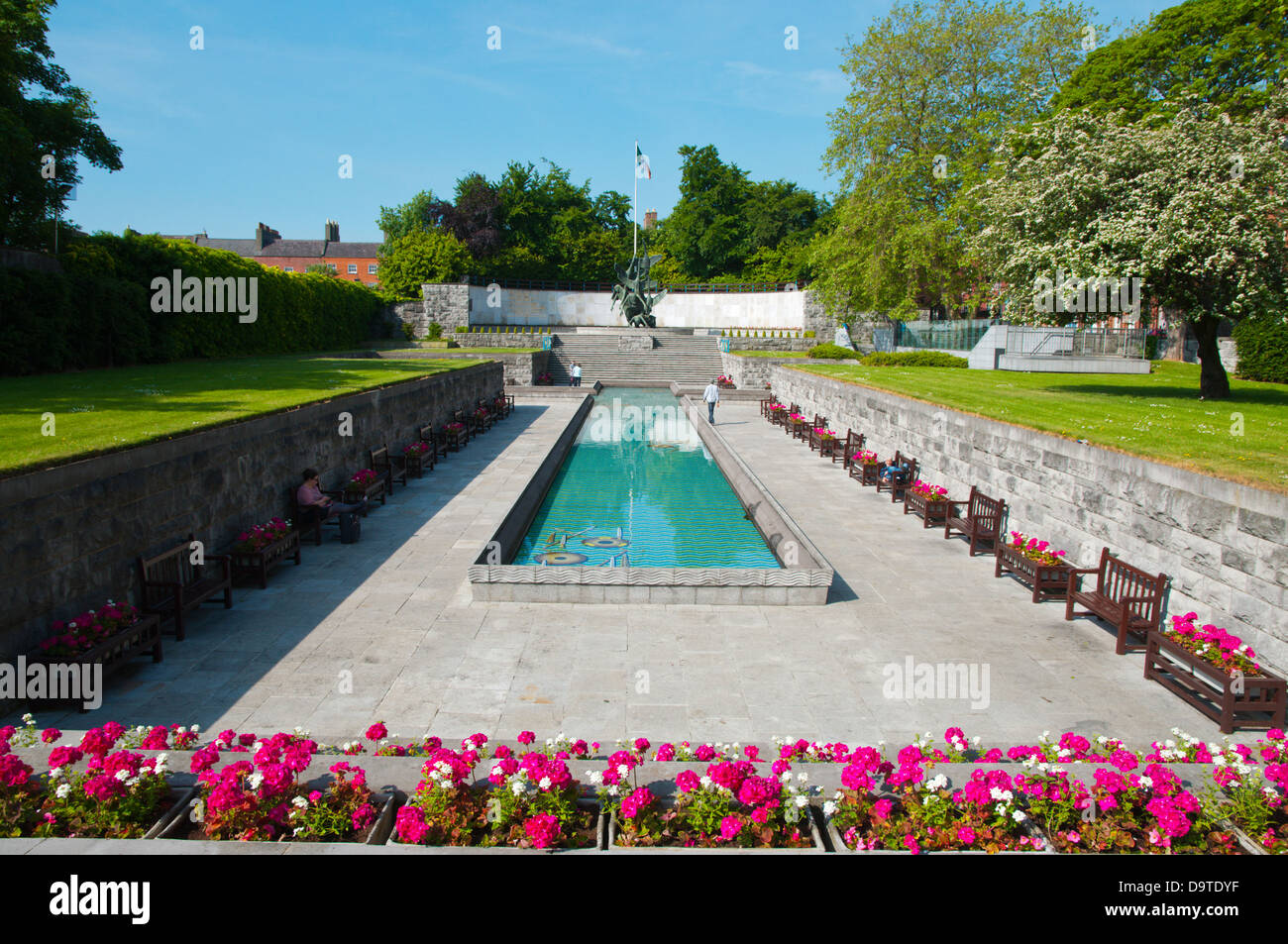 Garden of Remembrance memorial (1966) Parnell Square central Dublin Ireland Europe - Stock Image