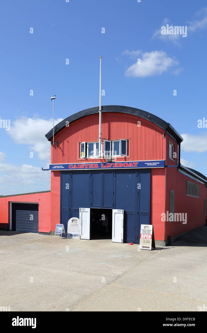 caister lifeboat and station on the norfolk coast Stock Photo