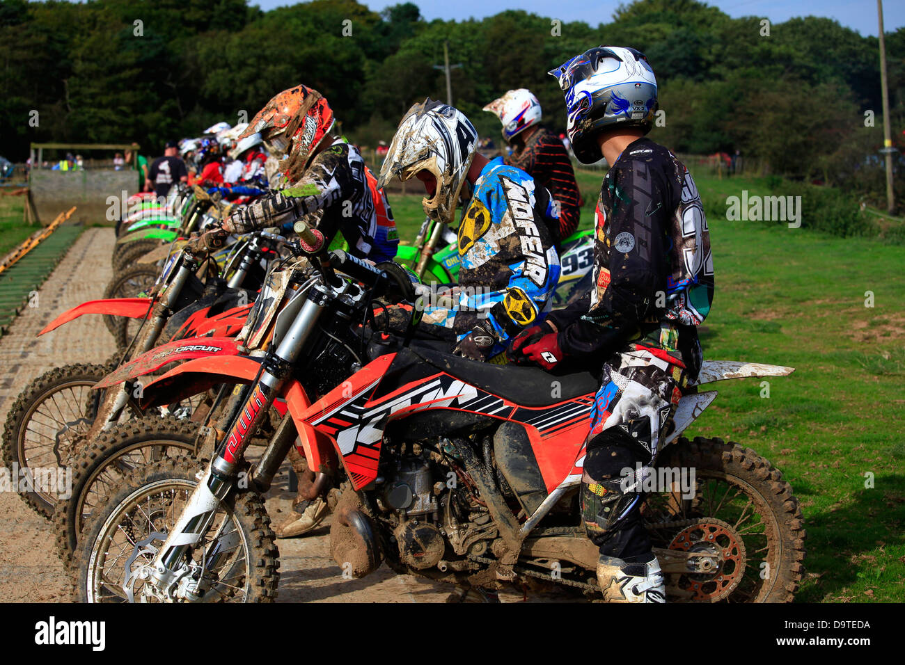 Whitby Motocross, North Yorkshire - Stock Image