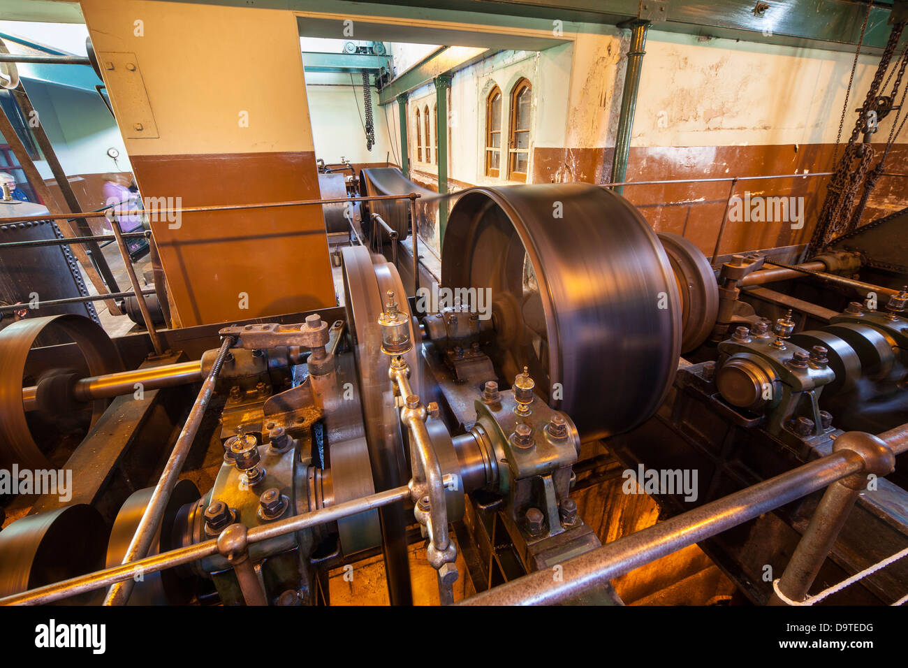 Tees Cottage, Darlington heritage water works. The Gas Pump - Stock Image