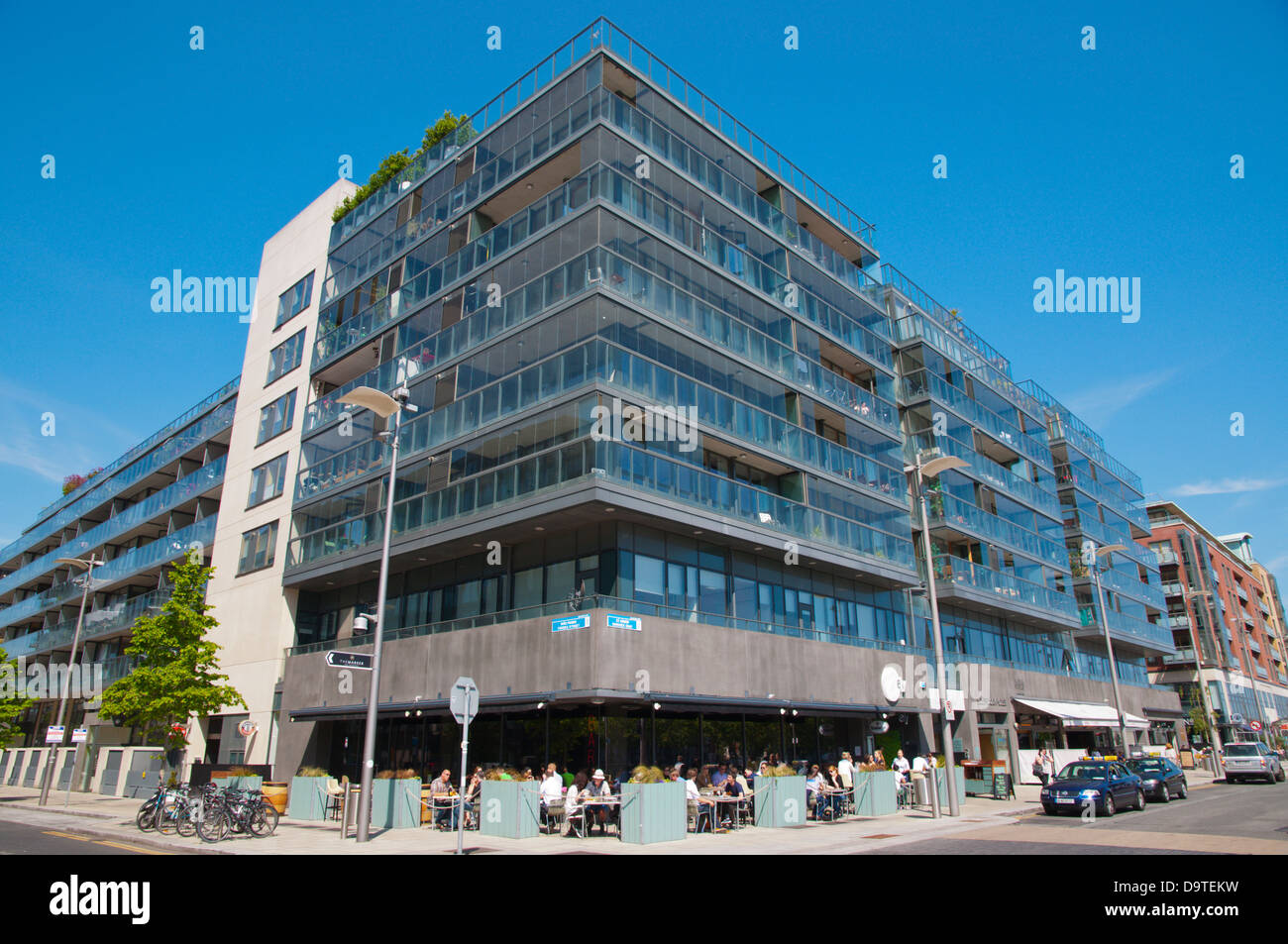 South Dock House building Hanover Quay by Grand Canal Docks in Docklands former harbour area central Dublin Ireland - Stock Image