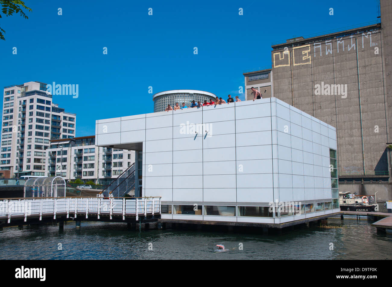 Waterways Visitor Centre in Grand Canal Docks in Docklands former harbour area central Dublin Ireland Europe - Stock Image