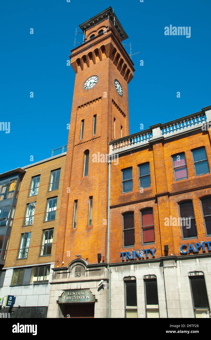 Fire Station Tower (1907) Docklands former harbour area central Dublin Ireland Europe - Stock Image
