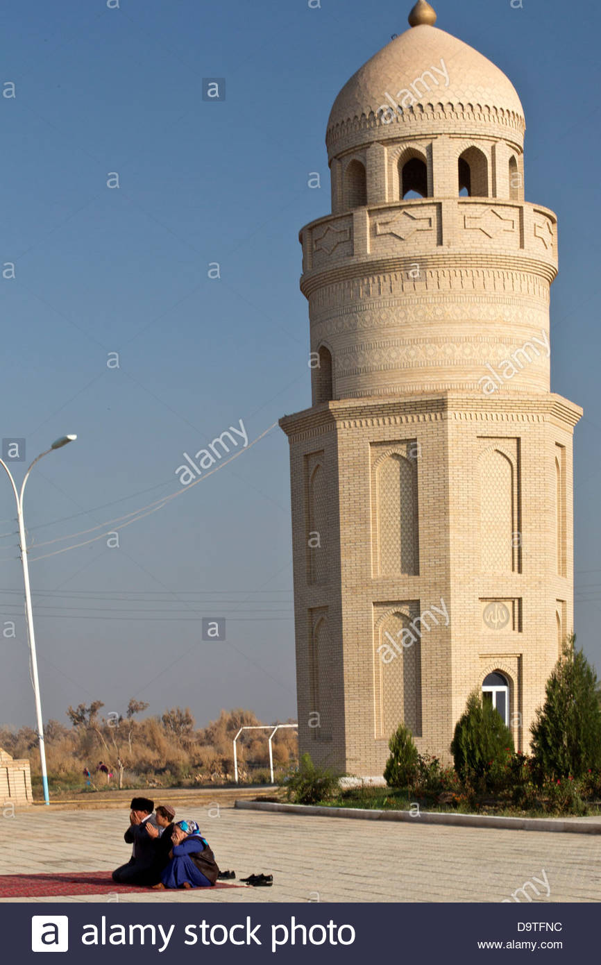 Turkmenistan, Merv, Minaret of Mosque of Yusuf Hamadani - Stock Image