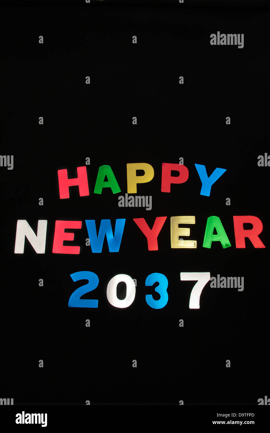 HAPPY NEW YEAR 2037Stock Photo