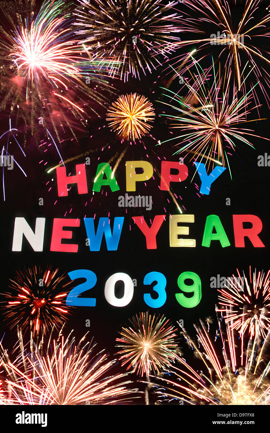 HAPPY NEW YEAR 2039Stock Photo