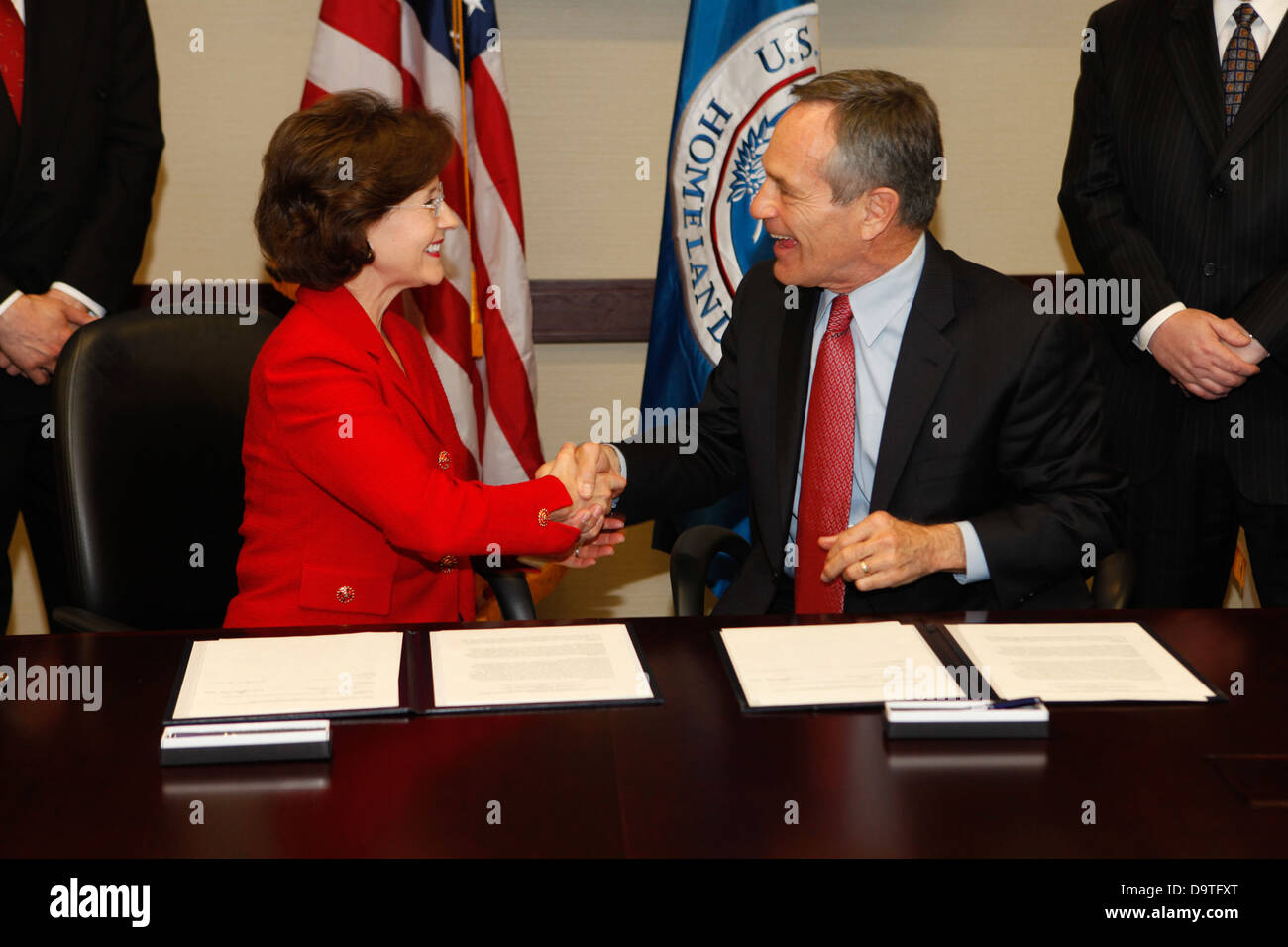 CBP & CPSC Sign Agreement. Stock Photo