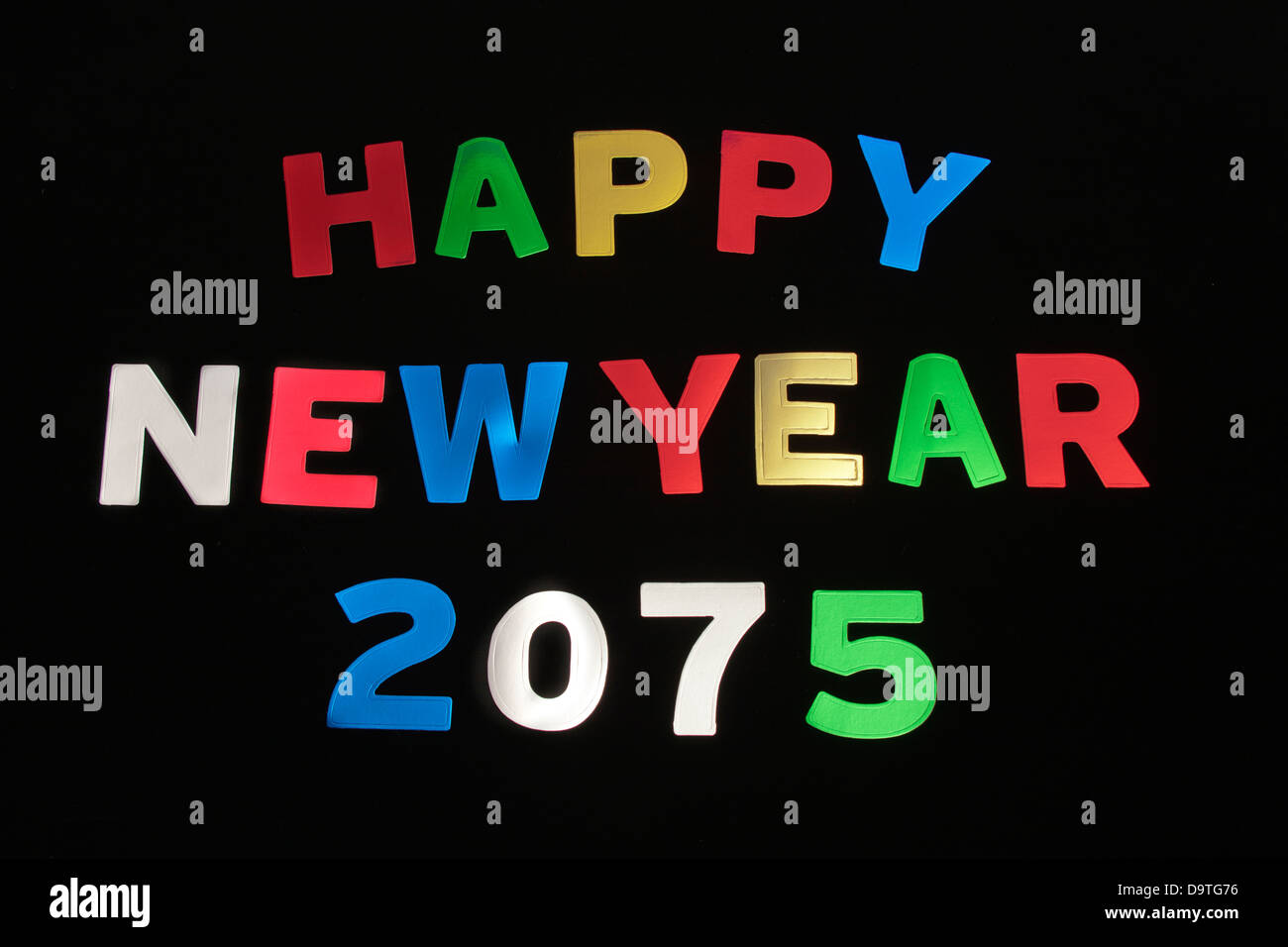 HAPPY NEW YEAR 2075Stock Photo
