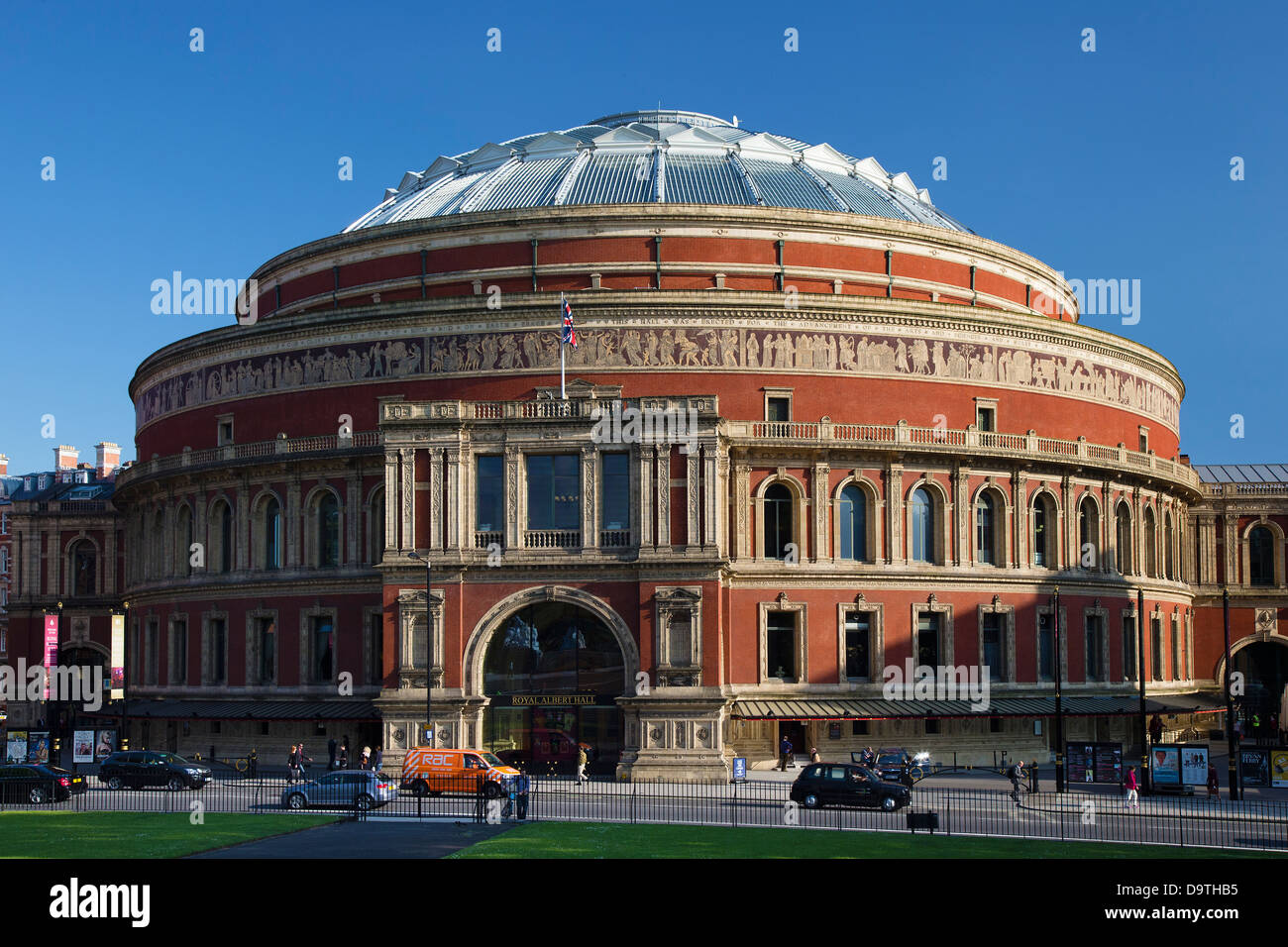 North side exterior of the Royal Albert Hall, Concert Hall, Kensington, London, UK - Stock Image
