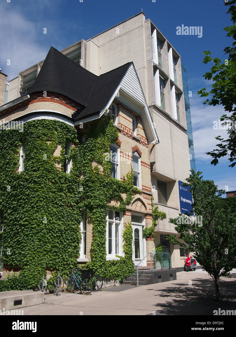 University of Toronto, old house  with modern addition - Stock Image