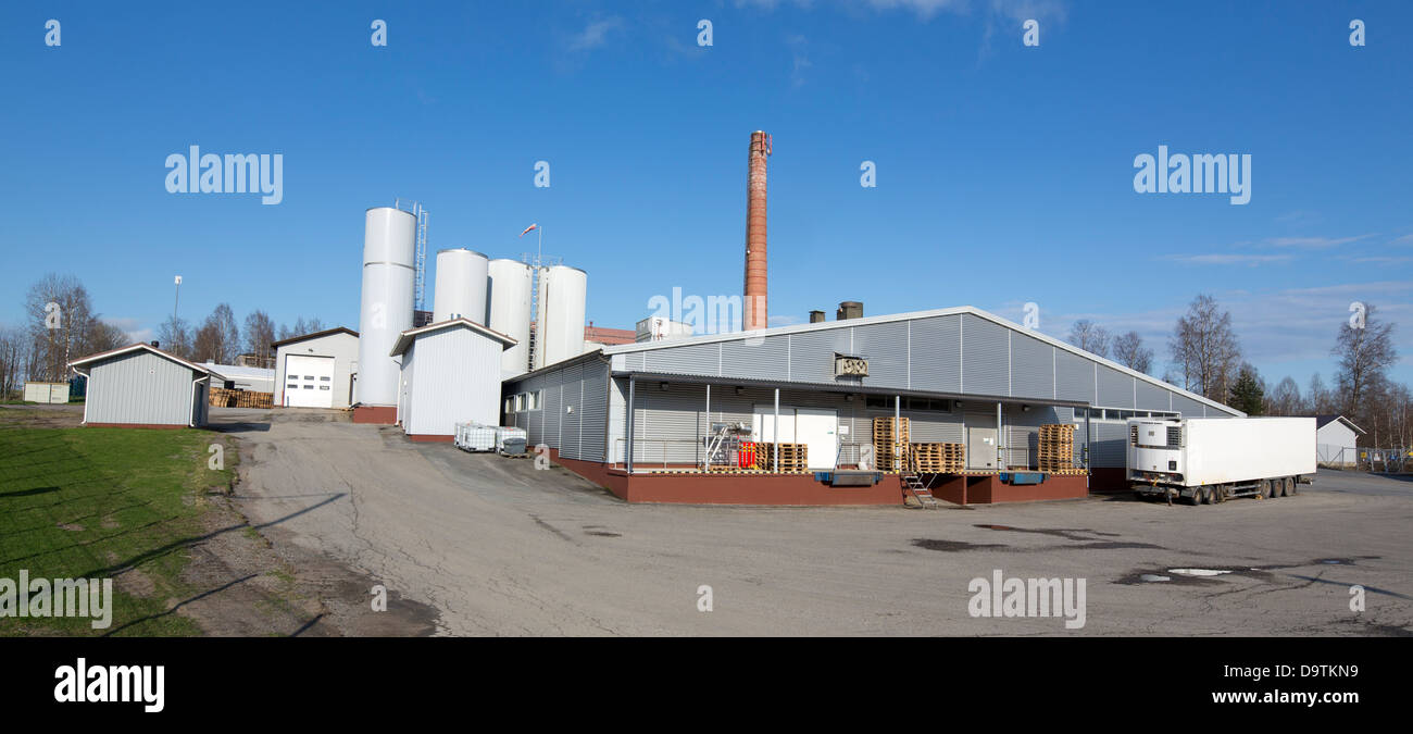 Finnish dairy , produces milk , butter and other dairy products , Finland - Stock Image