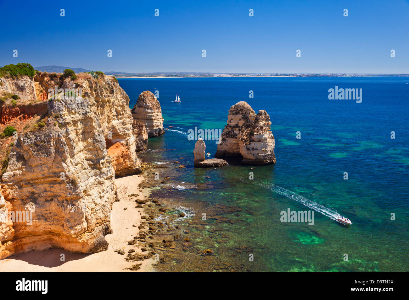 Ponta da Piedade Lagos Algarve Portugal EU Europe Stock Photo