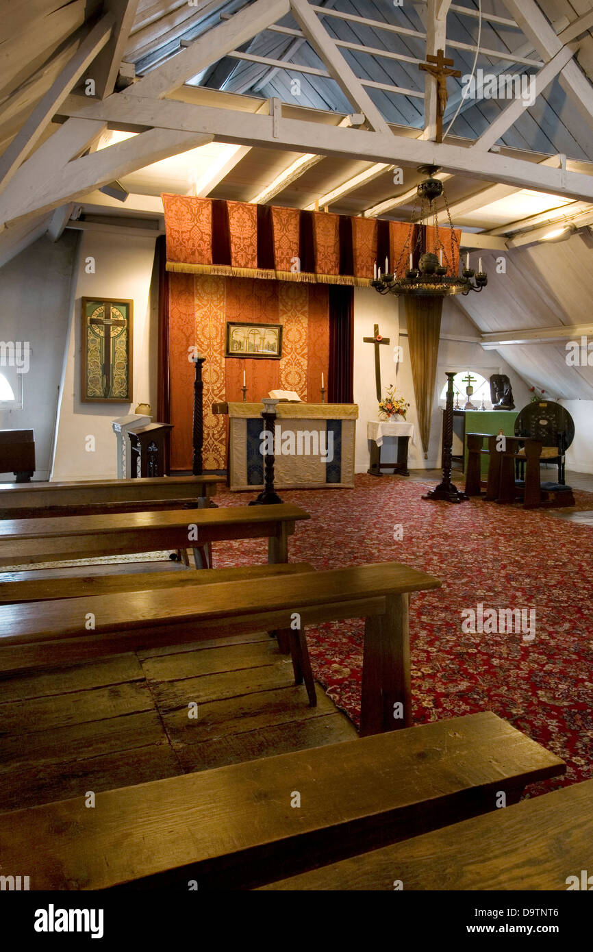 The WW1 Upper Room at Toc H / Talbot House, World War One museum at Poperinge, West Flanders, Belgium - Stock Image