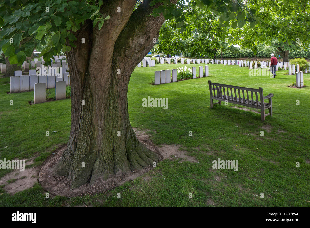 Essex Farm Cemetery, WWI burial ground for First World War One British soldiers at Boezinge, West Flanders, Belgium Stock Photo
