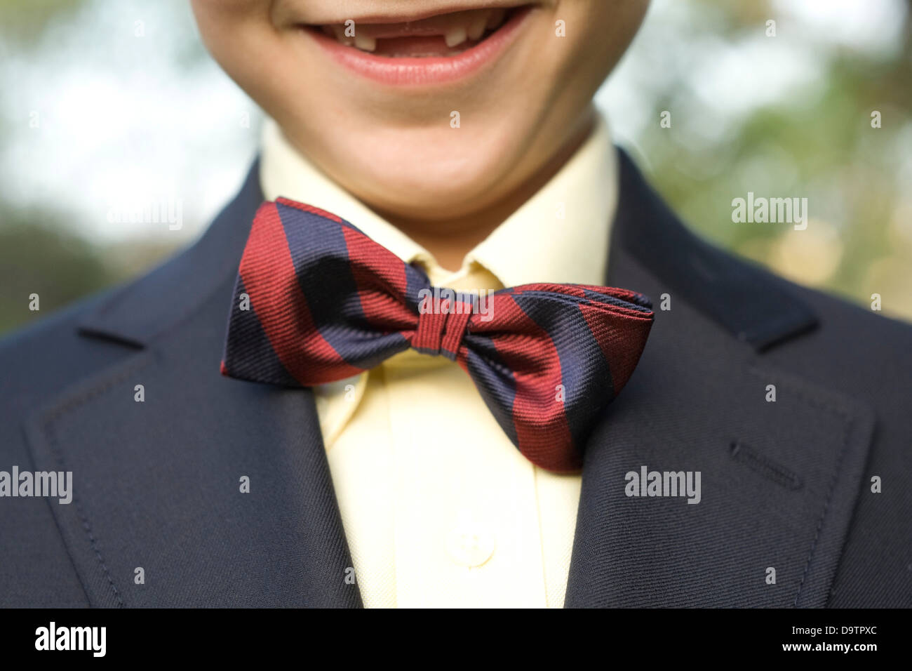 LOS ANGELES, CA – NOVEMBER 11: Boy with a bow tie in Los Angeles, California on November 11, 2007. - Stock Image