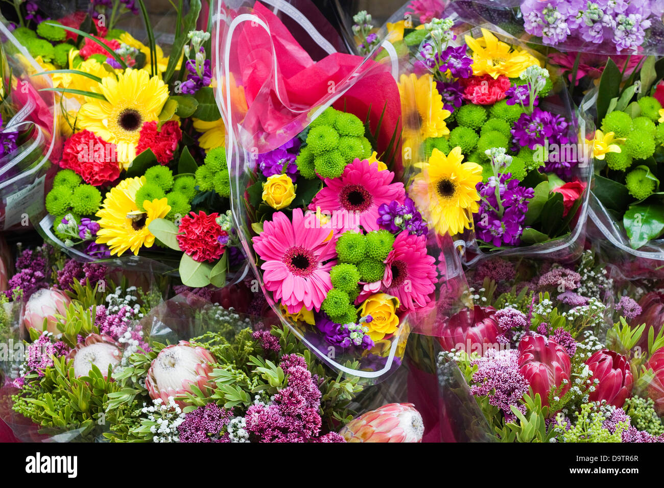 Bright colorful flower bouquets on sale Stock Photo: 57708079 - Alamy