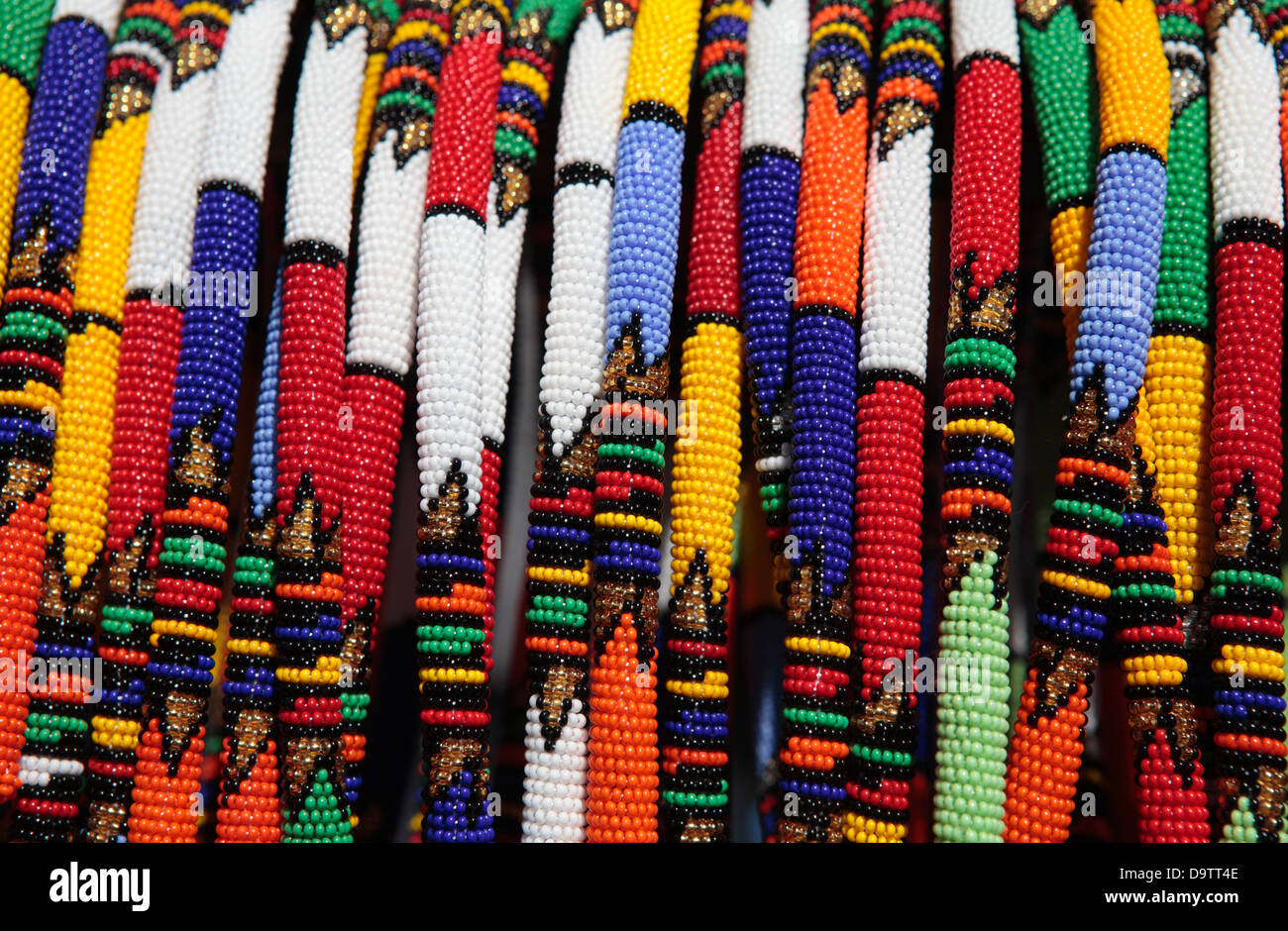Zulu or Xhosa Beaded Necklace - Stock Image