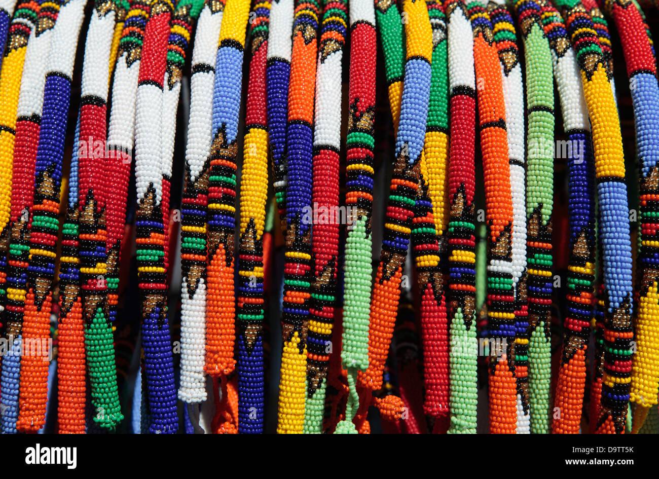 Zulu Xhosa Beaded Necklace - Stock Image