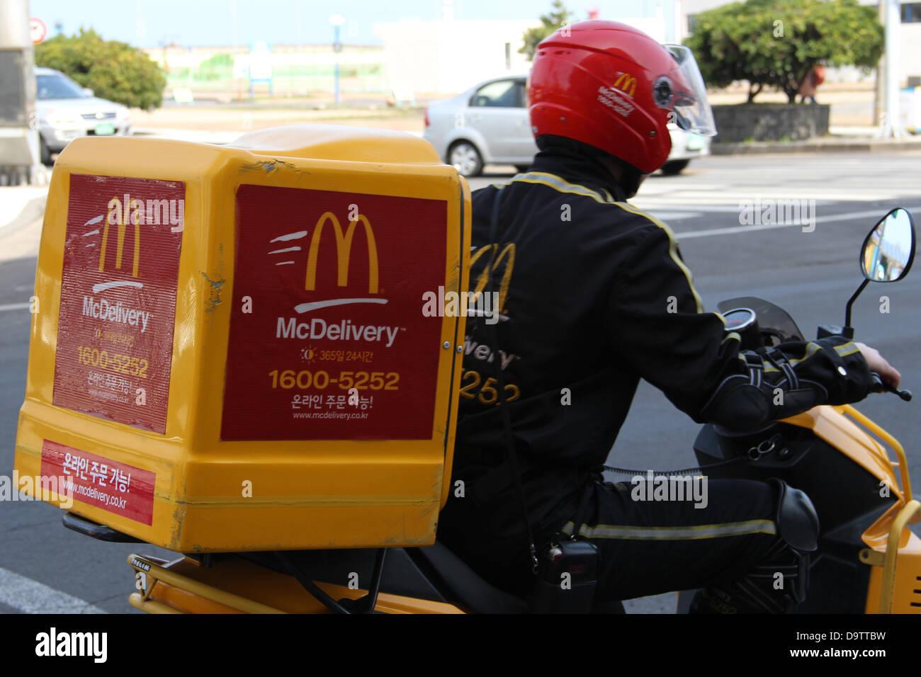South Korea: McDonald's delivery service on Jeju island