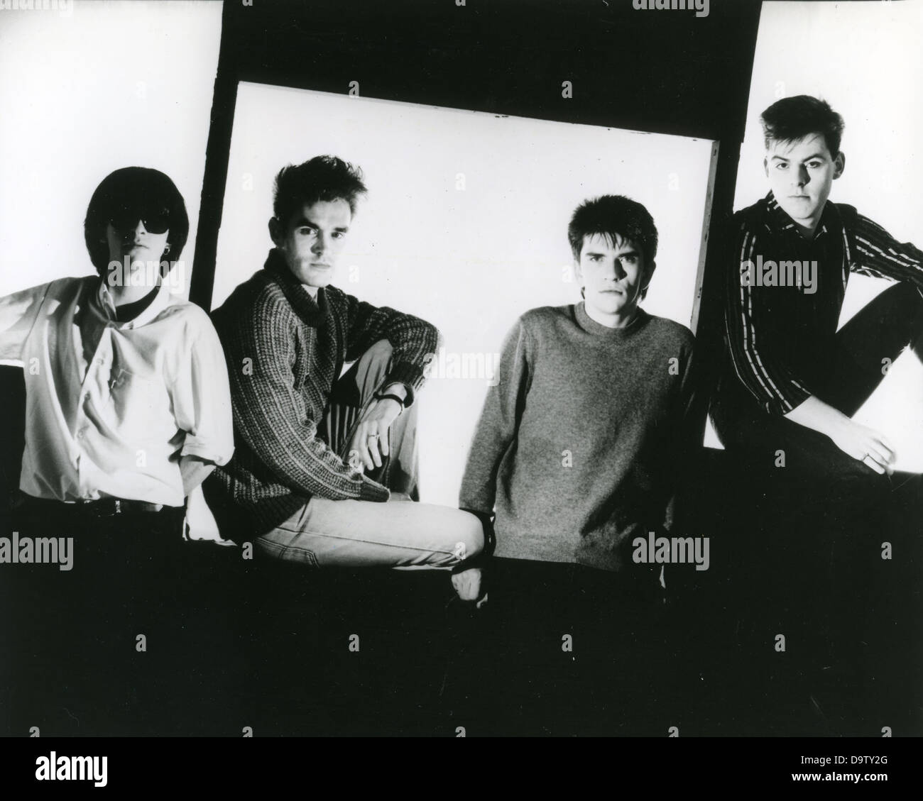 THE SMITHS Promotional photo of UK rock group about 1985 - Stock Image