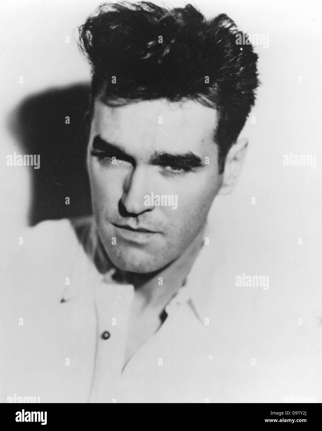 THE SMITHS UK rock group promotional photo of Morrissey about 1985 - Stock Image
