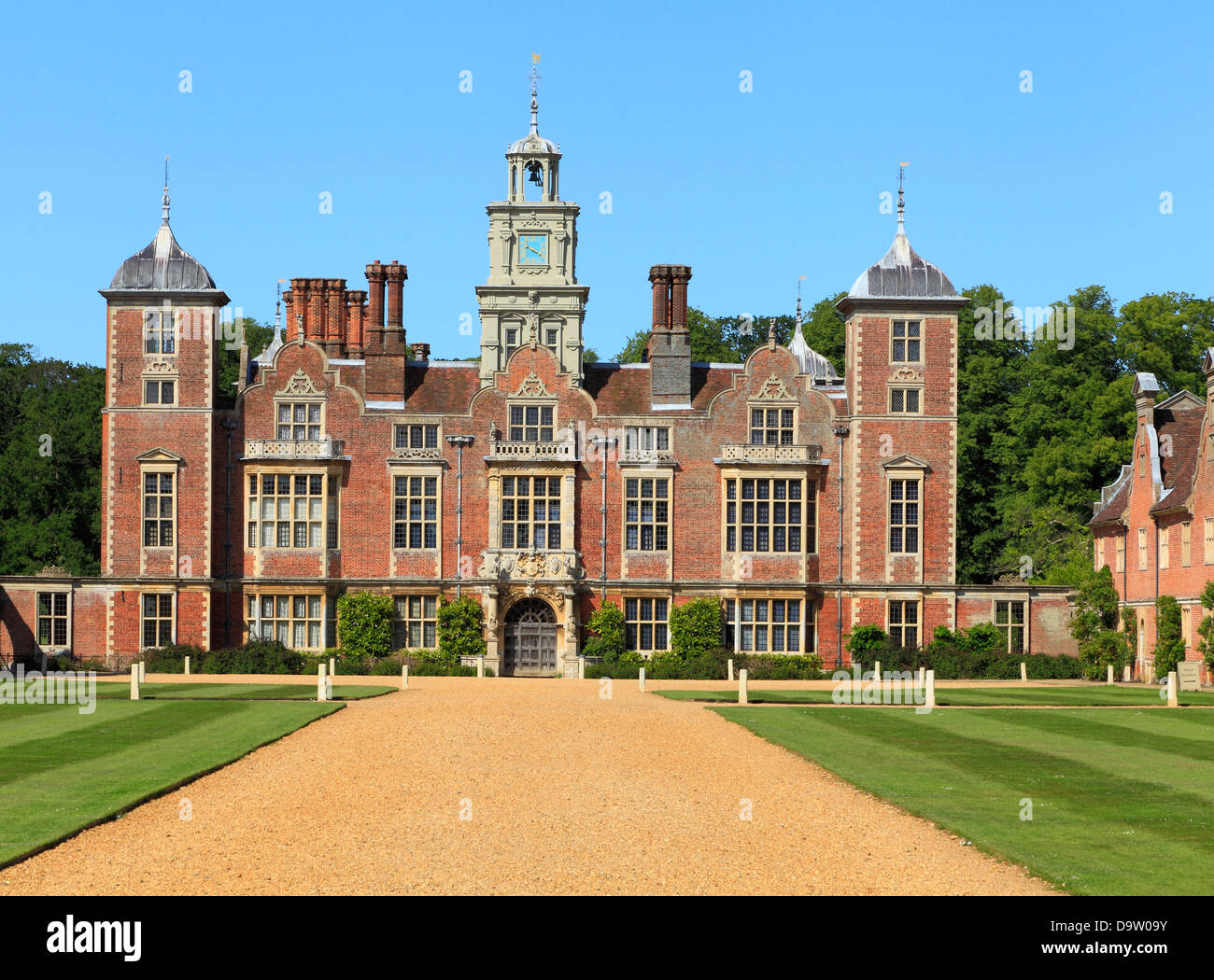 Blickling Hall, Norfolk, England UK, 17th century Jacobean mansion, English stately home homes - Stock Image