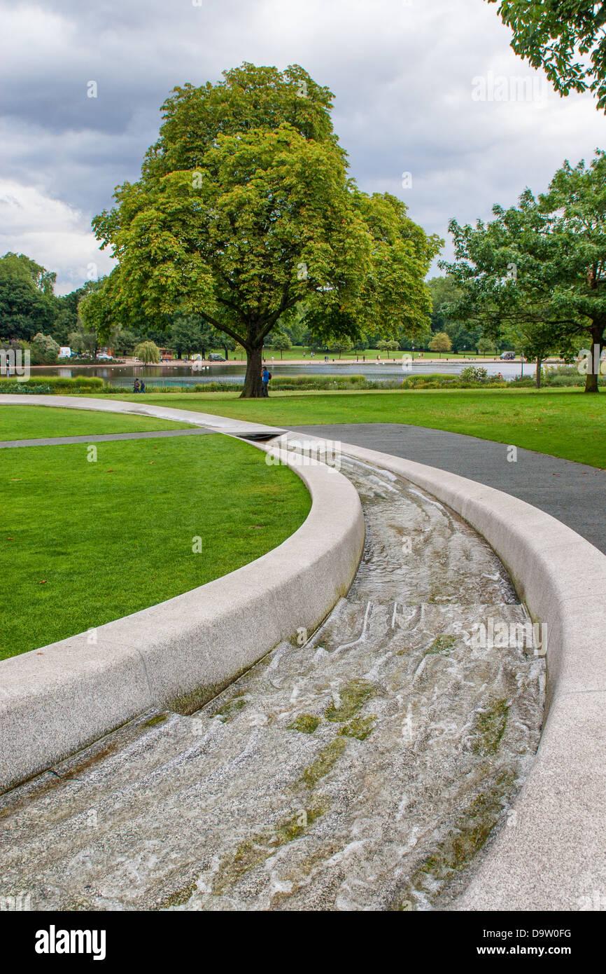 Diana Princess of Wales Memorial Fountain - Stock Image