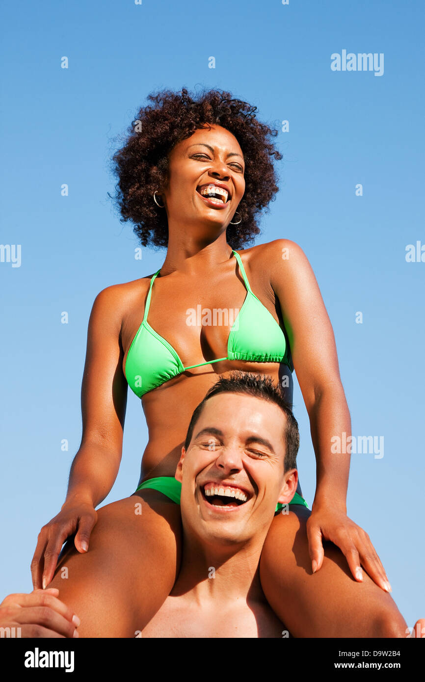 Couple Origin Bikini Her On Love Sitting Woman Of In Brazilian W92IEDH