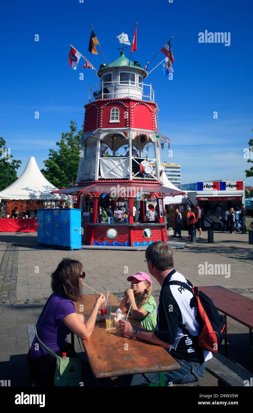 Kiel Week, Kiel, Schleswig-Holstein, Germany, Europe - Stock Image