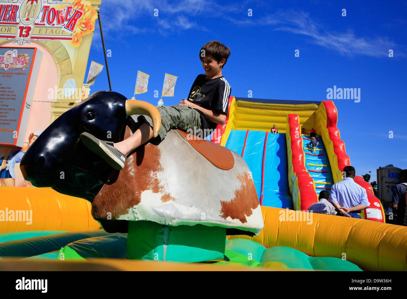 Children playing at Kiel Week, Schleswig-Holstein,  Germany, Europe - Stock Image
