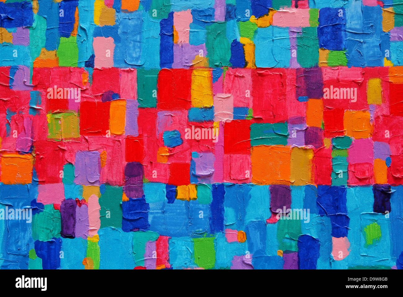 Red Blue Painting Texture Background And Colorful Image Of An