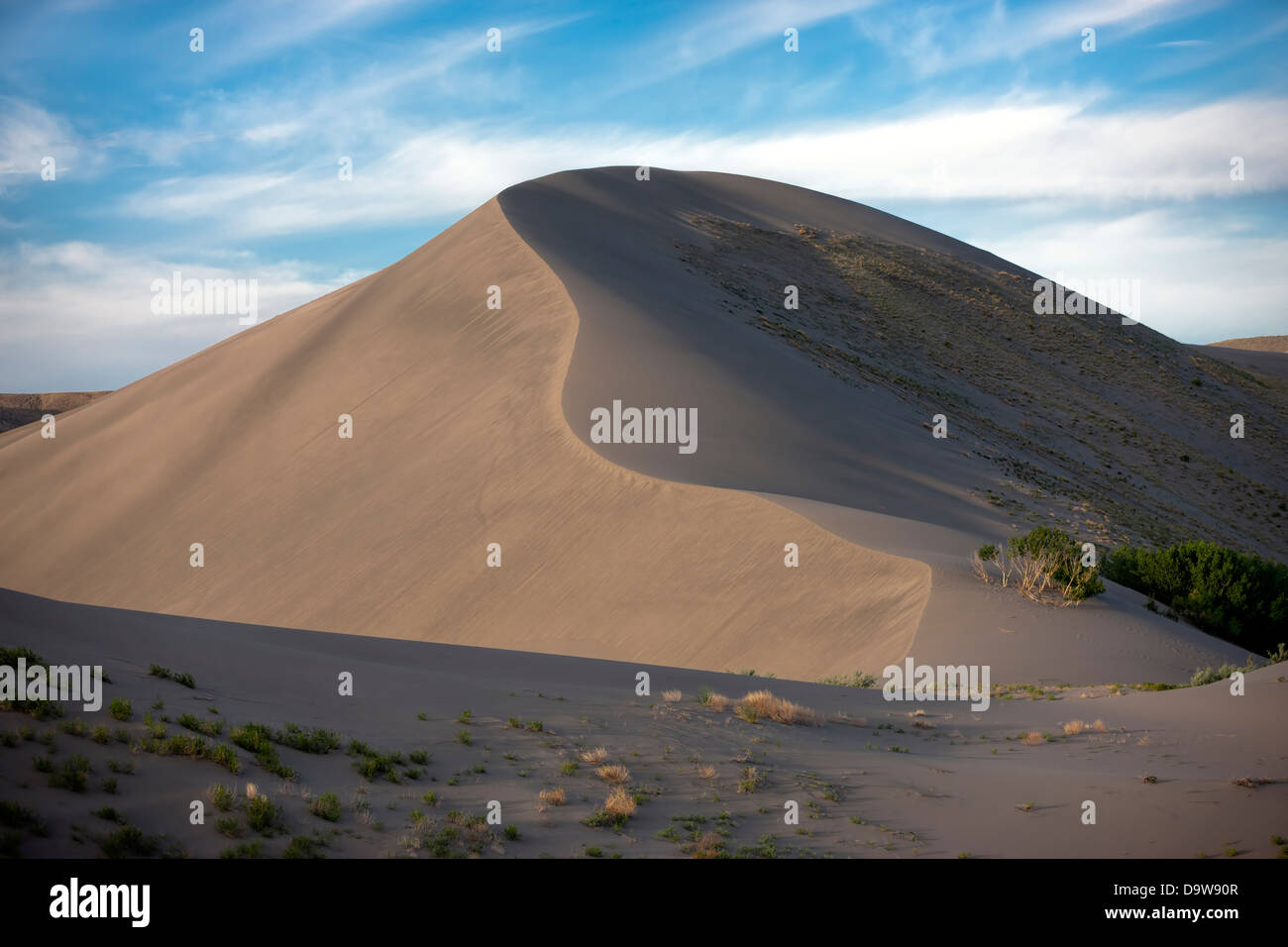 Contrasting light on the dunes. - Stock Image