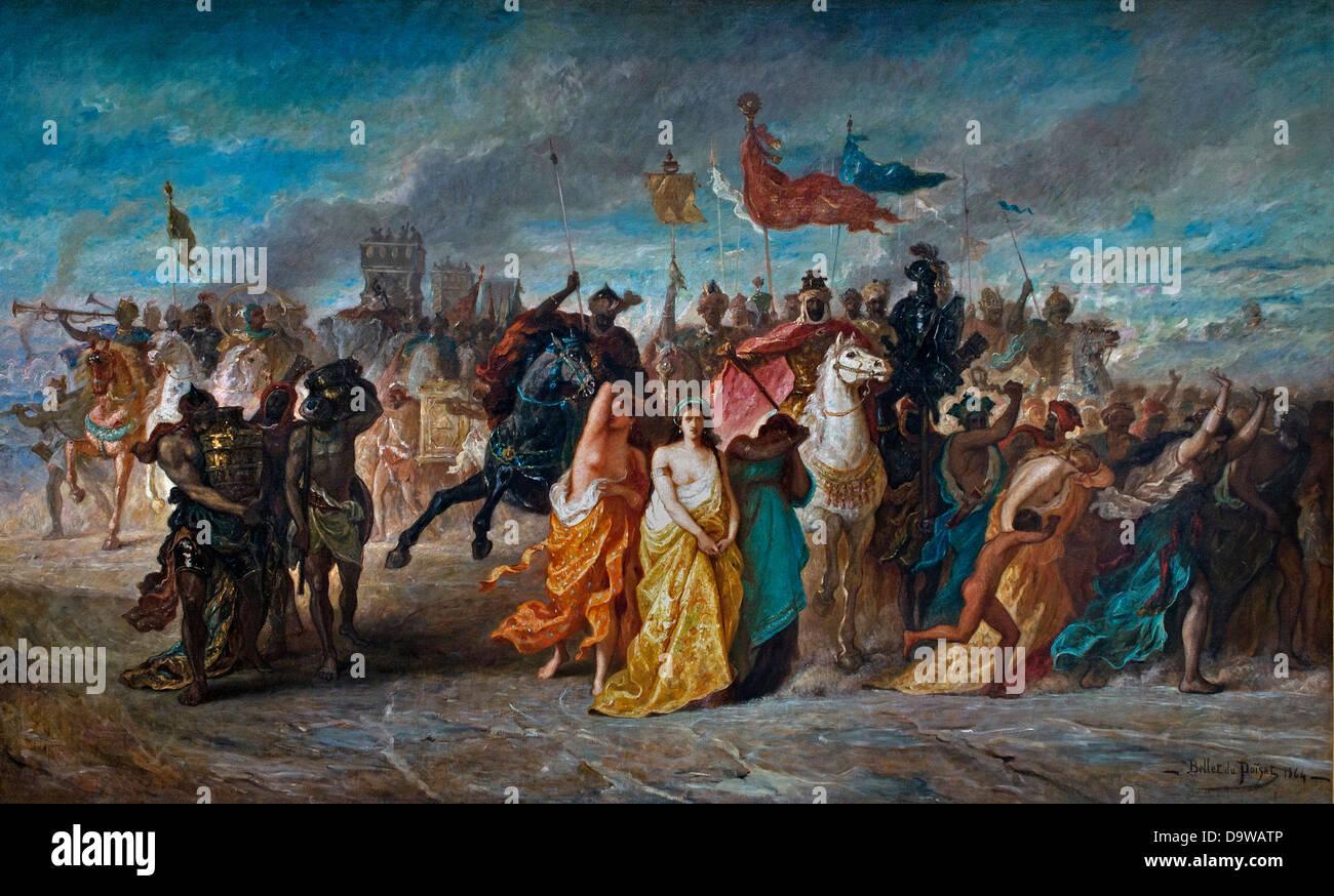 Les Hebreux conduits en captivite - The Hebrews led in captive 1864 Alfred Bellet de Poisat 1823-1883 France Stock Photo
