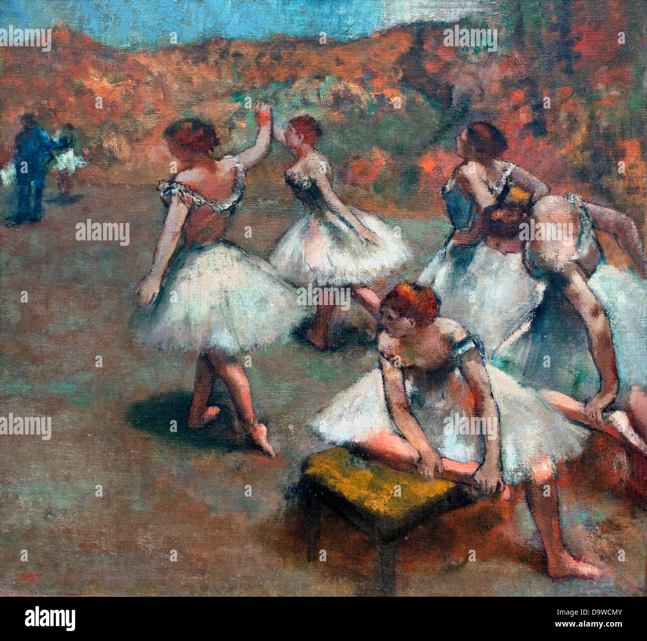 Dancers on stage - Danseuses sur la scene 1889 Edgar Degas 1834-1917 France - Stock Image