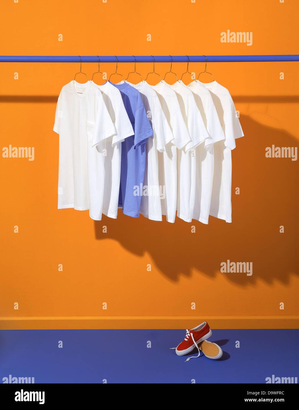 clothe rack - Stock Image