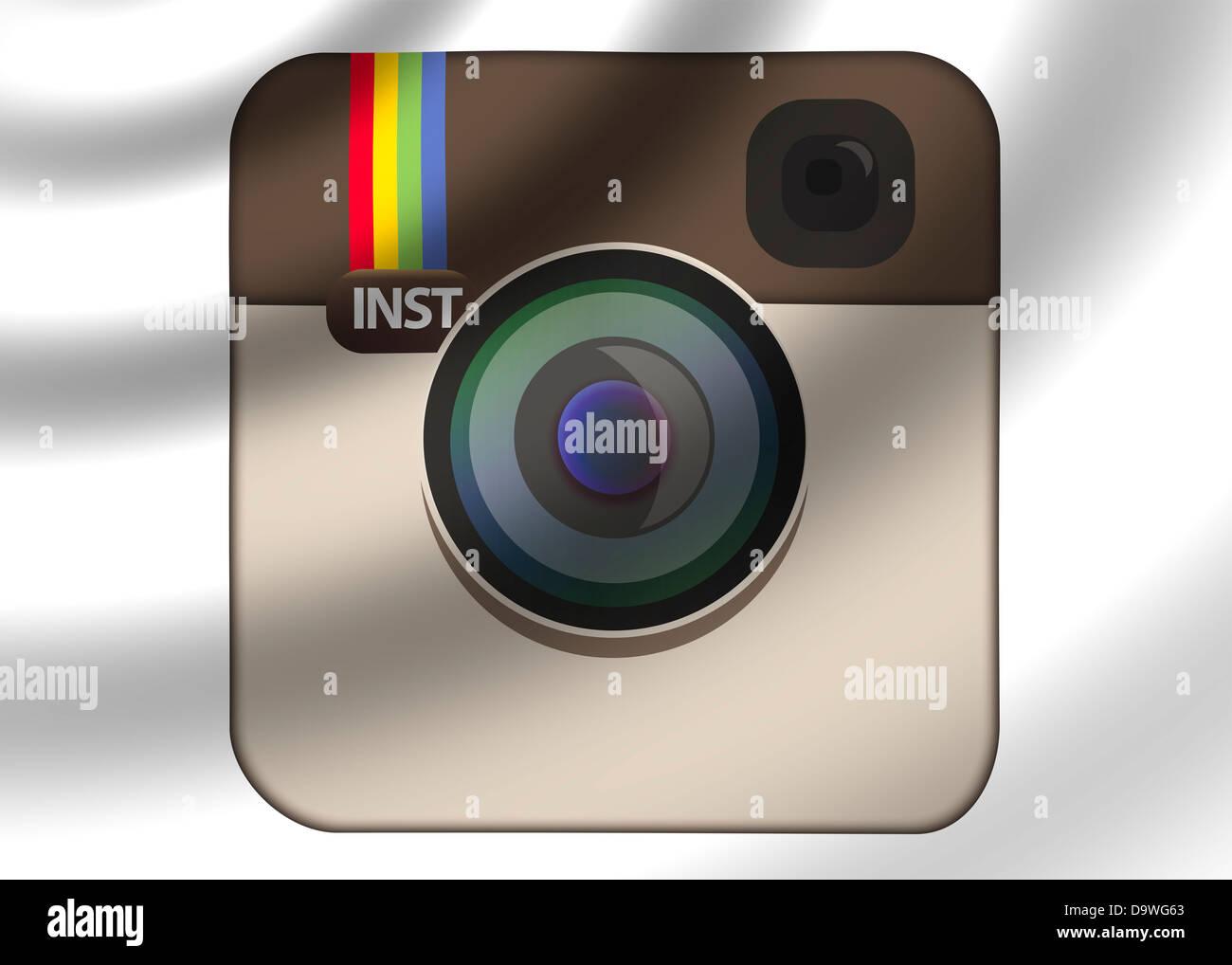 Instagram Logo Symbol Icon Flag Stock Photo 57724523 Alamy