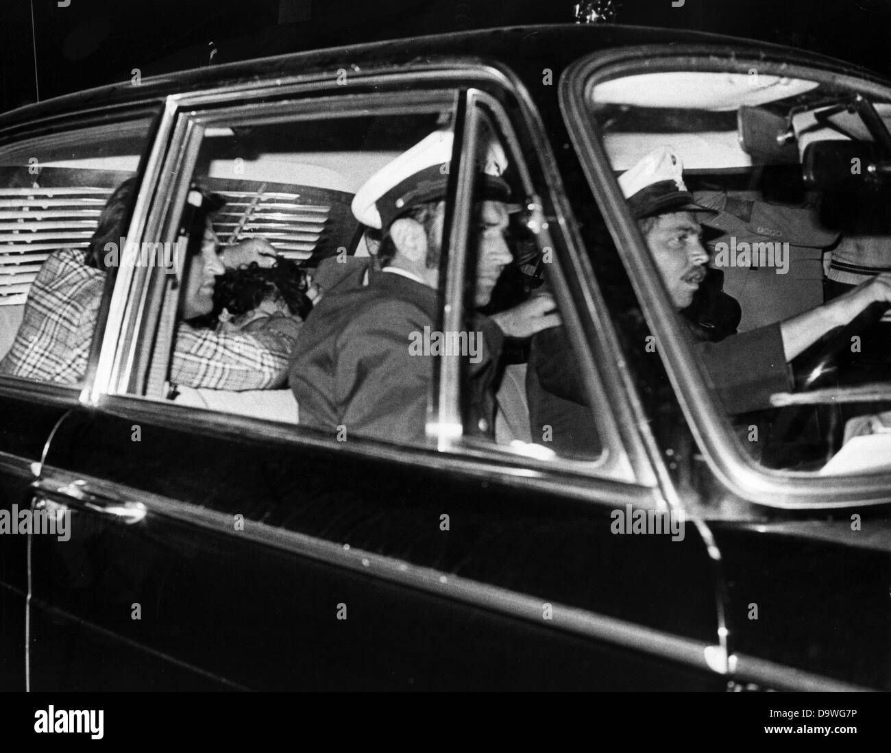 A Police Car With An Arrested Arab Man Right On Back Seat Leaves The Military Airbase Fuerstenfeldbruck Night Of 5th September In 1972