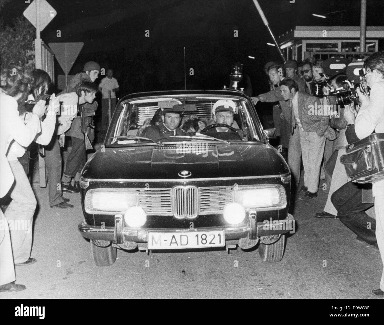A Police Car With An Arrested Arab Man M Back Right On Seat Passes Group Of Photographers In Fuerstenfeldbruck The Night 5th