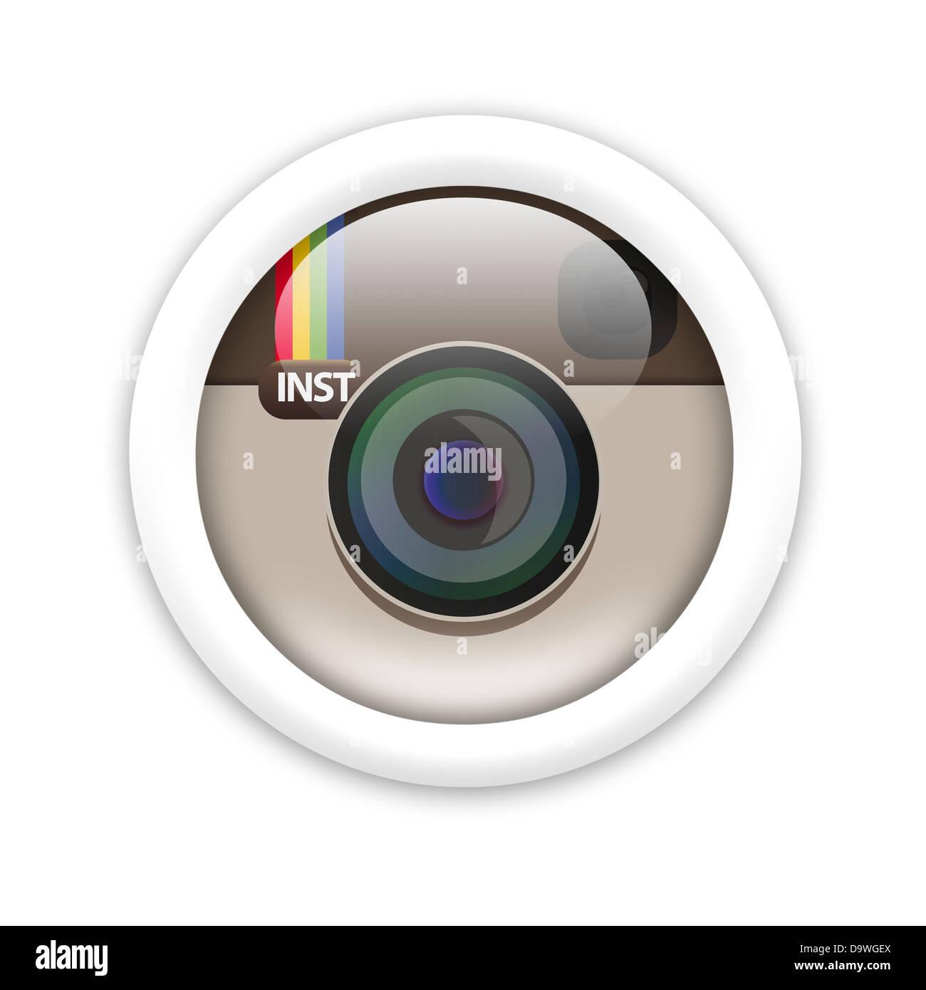 Instagram Logo Symbol Icon Flag Stock Photo 57724770 Alamy
