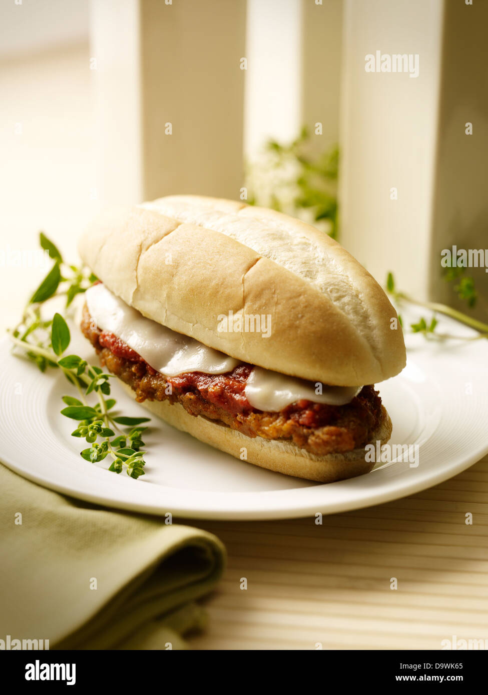 meat ball sandwich - Stock Image