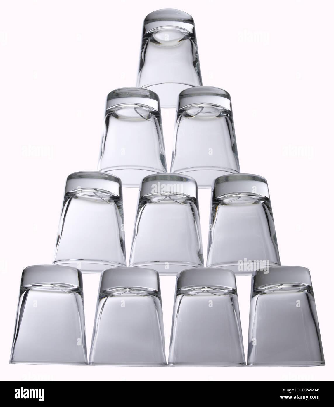 shot glasses - Stock Image