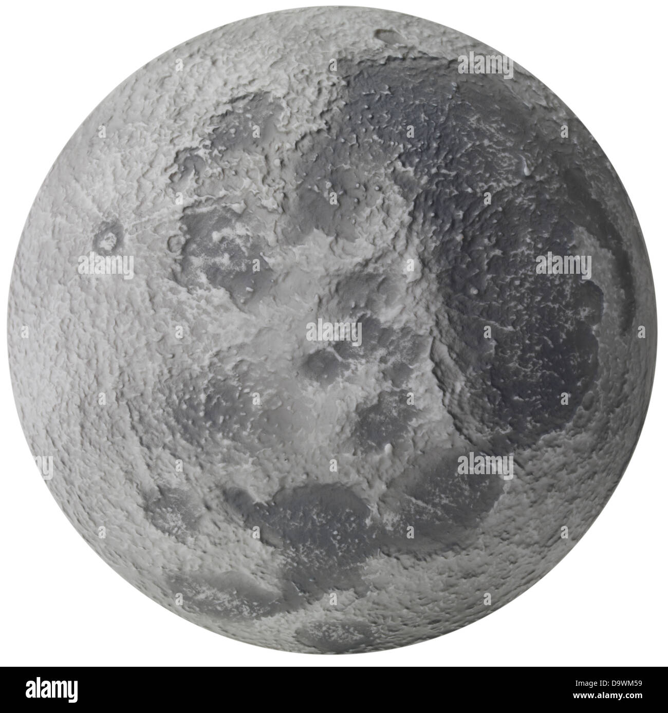 surface of the moon - Stock Image